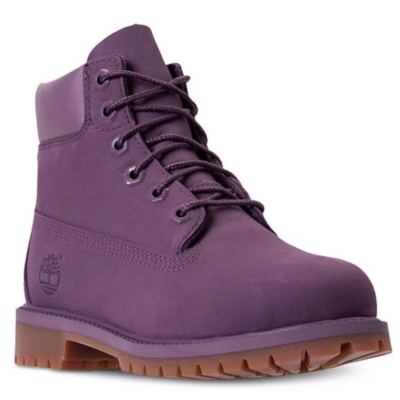 KIDS Purple Timberland Boots NWT